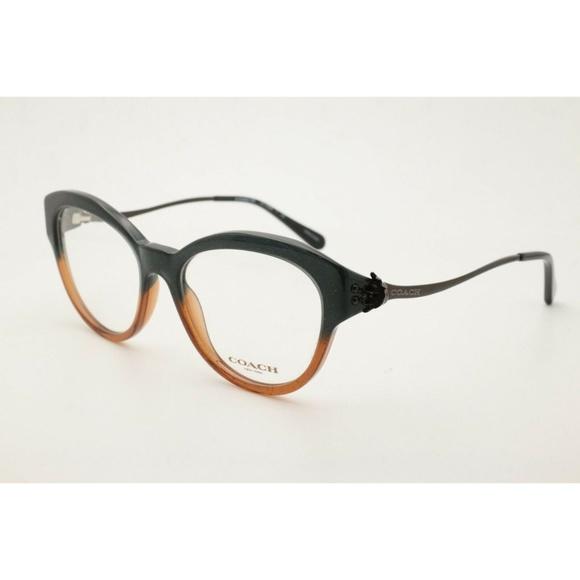 Coach Eyeglasses HC 6093 5490 Black Amber Frames